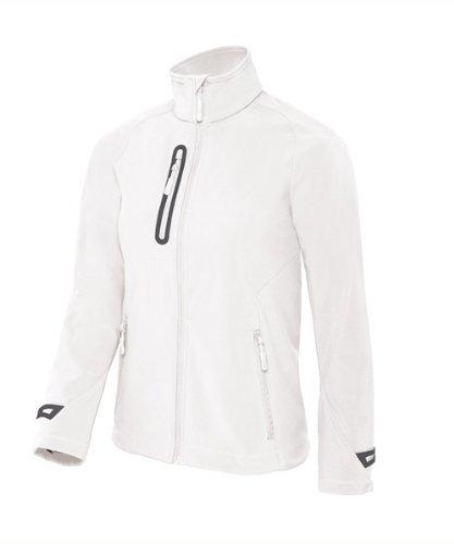BCJW938 Damen Softshell Jacke atmungsaktiv, wasserabweisend, windfest White