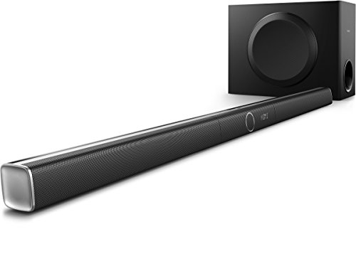 Philips HTL5160B/12 3.1 Streaming-Soundbar (Bluetooth/NFC, Spotify Connect, Audio GoogleCast, Wi-Fi) - Black