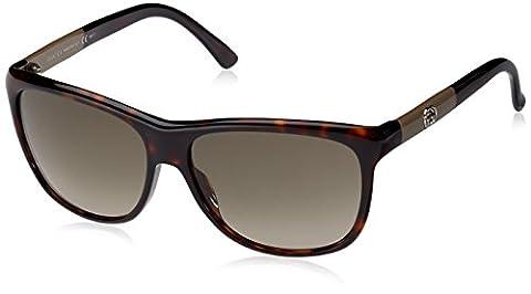 Gucci Women's GG 3613/S HA Wayfarer Sunglasses, 6F4