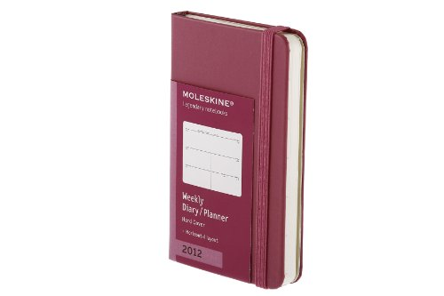 For Sale 2012 Moleskine Extra Small Dark Pink Weekly Horizontal Diary 12 Month HD Online