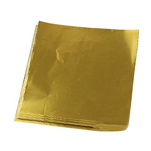 Black Temptation 100pcs Verpackungsfolie handgemachte Süßigkeit Schokolade Wrappers Verpackungspapier,Gold | Glatt