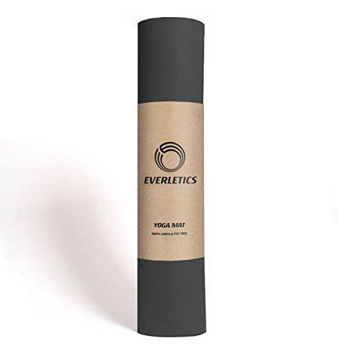 Everletics Yoga-Matte Pro Schwarz umweltfreundlichem TPE-Schaum. Sehr Rutschfeste, schadstofffreie, hypoallergene und hautfreundliche Gymnastik-Matte, Fitness-Matte, Turn-Matte
