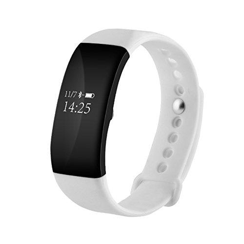 Nclon Smart Armband Activity Tracker, Schrittzähler Schlaf Monitor Herzfrequenz Monitor Wasserdicht IP67Bluetooth Sport Smart Watch für Kinder, weiß