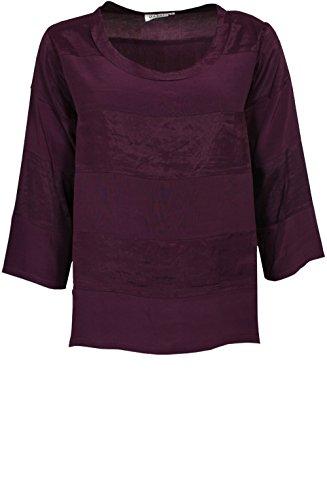 Masai Clothing -  T-shirt - Donna Burgundy