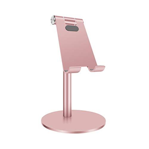 Desktop Handy Standhalter, Massiver Tragbarer Universal Standfuß aus Aluminium für Alle Mobilen Smartphone Tablets Anzeigen Huawei iPhone X 8 7 6 Plus 5 iPad 2 3 4 iPad Mini Samsung (Silber)