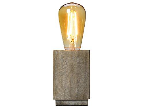 Pendule Lampe Brun e27 Bois Salon