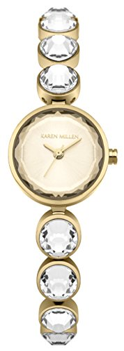 Karen Millen Womens Analogue Classic Quartz Watch with Stainless Steel Strap KM149GM