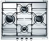 Smeg SE60S3 built-in Gas Silver hob - hobs (Built-in, Gas, Silver, 600 mm, 500 mm)