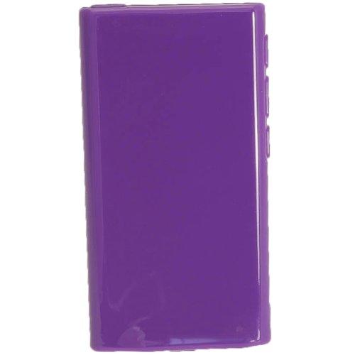 igadgitz Lila Glänzend Dauerhafte Kristall Gel Tasche TPU Hülle Schutzhülle Etui für Apple iPod Nano 7. Gen Generation 7G 16GB + Displayschutzfolie - Nano Ipod 3. Gb 16 Generation