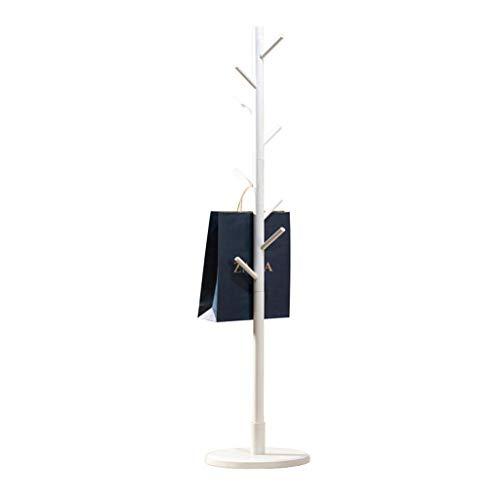 Hall Tree Set (Barture Kleiderständer Frei Stehend Multifunktional Rundes Chassis Baum Beschichten Hall Tree Freistehend, Einfache Montage, 3 Farben (Color : White))