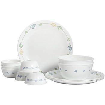 Corelle Livingware Secret Garden Dinner Set, 14-Pieces