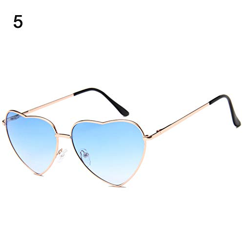 AchidistviQ Fashion Frauen Love Herzform Gradient Sonnenbrille Metall Rahmen Eyewear Brille 5#