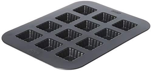 Chicago Metallic Professionelle Mini-Quadratische Pfanne, geriffelt, Metallic - Chicago Metallic Brownie Pan