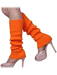 Calentadores de pierna - SODIAL(R)Calentadores de pierna sin pies tejidos de Color