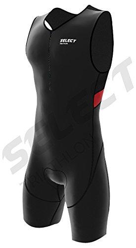 Select Herren-Triathlon-Anzug mit Coolmax-Polsterung, Herren, rot, Large