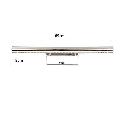 LAMP Licht Home Badezimmerspiegel Scheinwerfer LED Badezimmerspiegel Frontleuchte Edelstahl versiegelt moderne einfache Anti-Mist-Spiegel,Long69cm -