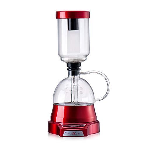 WXF Elektrischer japanischer Stil Siphon Kaffeekanne, 3 Tassen Vakuum Kaffeemaschine Brauer Tropf Tee Siphon Glaskanne Filter