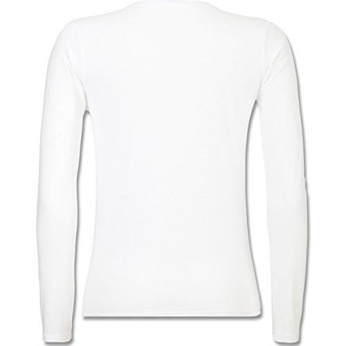 Geburtstag - 60 Jahre Perfektion seit 1957 - tailliertes Longsleeve / langärmeliges T-Shirt für Damen Weiß