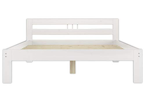 Erst-Holz® Massivholzbett weiß Kiefer Jugendbett 120×200 Einzelbett Futonbett mit Rollrost 60.64-12 W