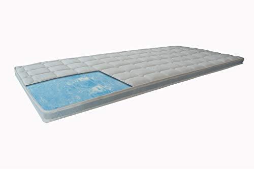 Royal-WS® Topper mit GELAX® Kern Matratzenauflage Gel-Schaum Topper ca. 7-8cm Gesamthöhe und Raumgewicht RG 50 mit Gelax…