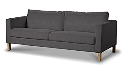 FRANC Textile 615-705-35 Karlstad 3-Seat Sofa Short Karlstad not be folded, Etna Dark Grey by FRANC-TEXTIL