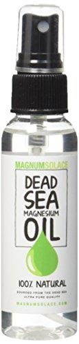 Magnum Solace - Aceite de Magnesio - Grande 60 ml - Origen Excepcional el Mar Muerto 100% PURO