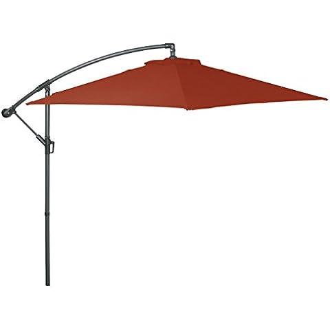 Greemotion ombrellone, 6rebbi con sfiato, diametro 300cm, antracite/Terra, 300x 300x 250cm,