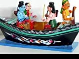 True Facility Wooden Kondapalli Rama Boat Showpiece, Indian Wooden Handicrafts, Kondapalli Handicrafts (27 cm x 11 cm x 14 cm)