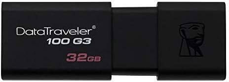 Kingston DataTraveler 100 G3-DT100G3/32GB  USB 3.0, 3.1 Clé USB , 32 GB, Noir