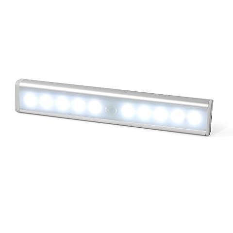 JESWELL Automatische LED Schrankbeleuchtung Nachtlicht mit Bewegungsmelder, Magnetische Batteriebetrieben 10