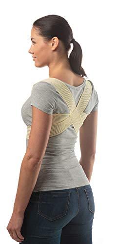 Medizinisch-orthopädischer Geradehalter zur Haltungskorrektur - Rückenbandage für perfekte Haltung - Körperhaltungskorrektor und Rückenstabilisator für Damen und Herren - Größe 3, Haut