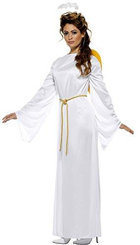 Faschingsfete Unisex Weihnachts Kostüm- Engel Gewand mit Heiligenschein Haarreif Erwachsenen Kostüm, S/M, Weiß