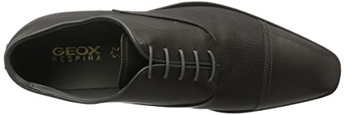 Geox Herren U New Life C Oxford Schwarz (Anthracitec9004)