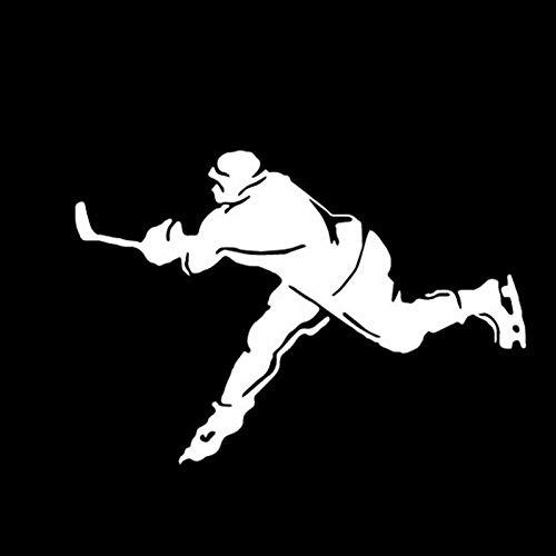 MCTYLI 17,3 * 12,1 cm Eishockeyspieler Sport Auto Aufkleber Cartoon Bilder Motorrad Vinyl Aufkleber