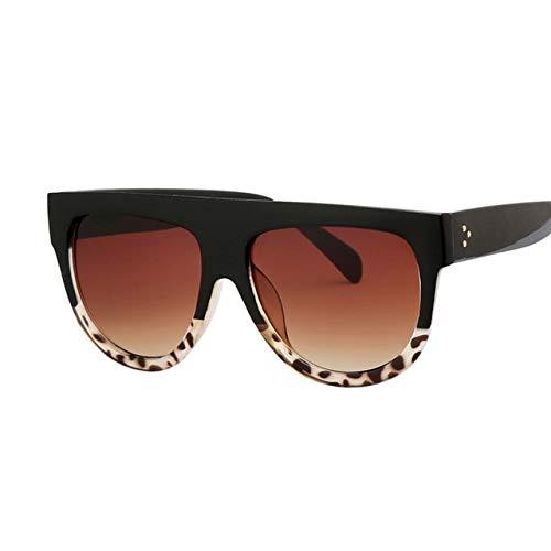 DongOJO Mode Auge Sonnenbrille Frauen schicke Sonnenbrille Dame Sommer Stil Sonnenbrille weibliche Schattierungenschwarzer Leopard