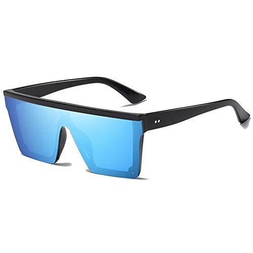 XIAOYUTOU Randlose quadratische Sonnenbrille Männer gespiegelt Damen Sonnenbrille Damen Mode Sonnenbrille for männliche Marke Lentes (Lenses Color : Blue)