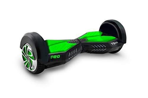 """Itekk Hoverboard 8\'\' Neo con Bluetooth, Assicurazione AXA \""""Tutela Famiglia\"""" inclusa, Verde Fluo"""