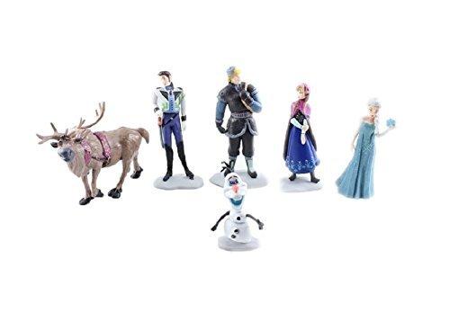 6 Stücke Frozen Gefrorene Abbildung Gefrorene Abbildung Play Set Puppe Anna Elsa Hans Kristoff Sieben Olaf Geschenke Die Eiskönigin (6 Stücke) Kuchendeckel (Stück-figur-set Frozen 6)