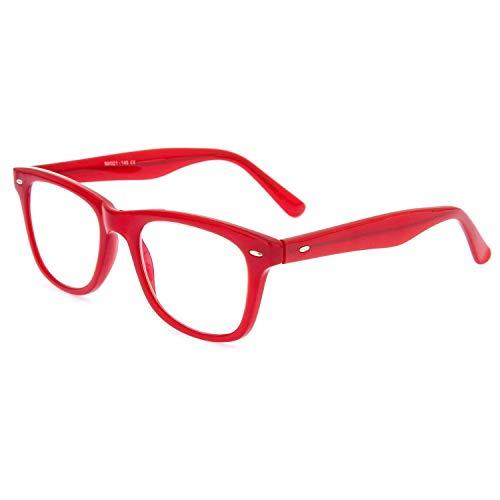 DIDINSKY Graduierte Lesebrille für Männer und Frauen transparent. Presbyopische Brille für Männer und Frauen für müde Augen. Red +1.5 - GETTY
