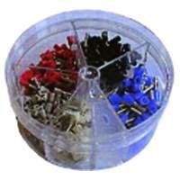 Aderendhülsen-Streudose, isoliert 0,5 - 2,5 mm², 400Stück