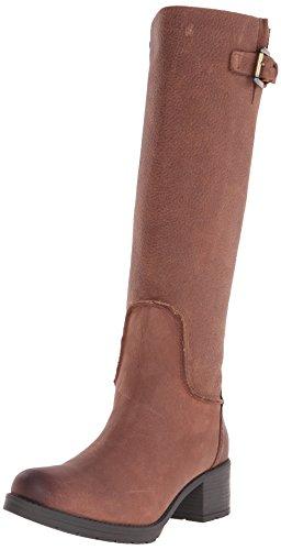 Rockport Rola Tall Boot Damen Breit Rund Leder Mode-Knie hoch Stiefel Nutelle Tumble