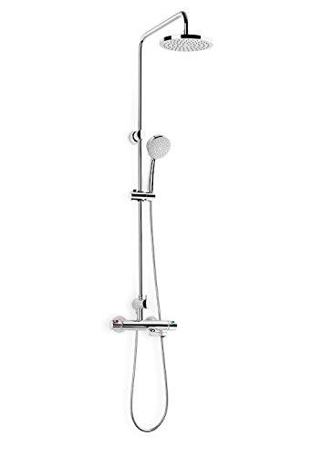 Roca A5A2718C00 - Columna termostática para baño-ducha con caño inferior retráctil