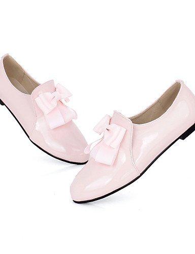 ShangYi Scarpe Donna - Ballerine - Tempo libero / Ufficio e lavoro / Formale / Casual - Comoda / Punta arrotondata - Piatto - Finta pelle -Nero / Pink