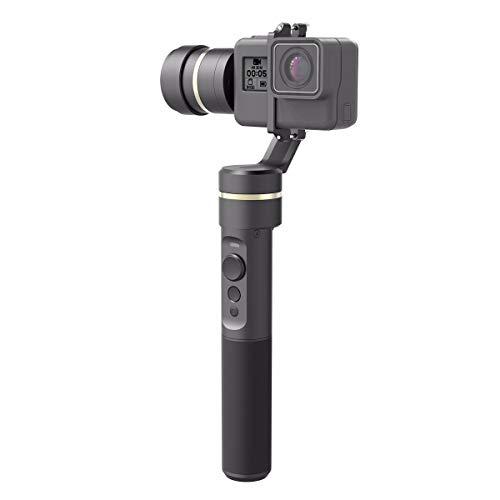 Feiyu Tech G5 - Gimbal estabilizador para GoPro y Cámara deportiva, 3 ejes, batería de 8 horas, Bluetooth, 360 grados, resistente a salpicaduras, color negro