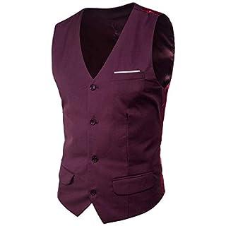 Suit Vest New Formal Patchwork Mens Ge Essential Anz Dress Waistcoat Plus Size Fashion Slim Fit Wedding Men Men Vest (Color : Dunkel Rot, Size : 4XL)