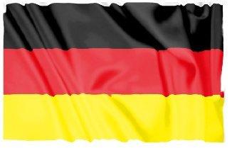 Bambinella® Bügelbild Aufbügler - gedruckte Velour/Flock Applikation zum selbst Aufbügeln - Motiv: Deutschland Flagge - Made in Germany