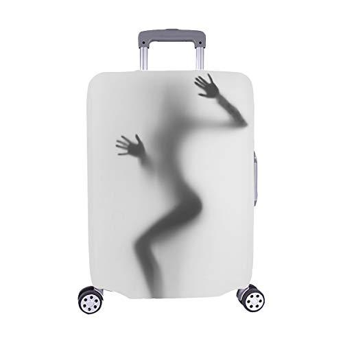 Verbreiten Sie reizvolle Frauen-Schattenbild-Hände Stockfoto Muster-Spandextrolleykoffer-Reisegepäck-Schutz-Koffer-Abdeckung 28,5 x 20,5 Zoll