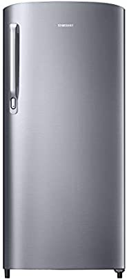Samsung 192 L 2 Star Direct Cool Single Door Refrigerator (RR19A241BGS/NL, Grey Silver)