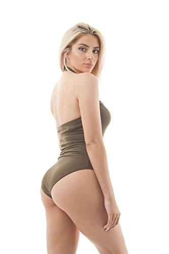 Khanomak Damen Formender Body Olivgrün