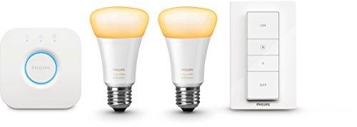 Philips Hue White Ambiance LED Lampe E27 Starter Set inkl. Dimmschalter und Bridge, alle Weißschattierungen, steuerbar via App, Standard Verpackung [Energieklasse A+] - 3